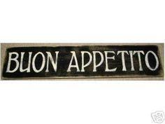 Buon Appetito Italian Kitchen Food Italy Sign By Shabbysignshoppe 2495