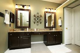 rubbed bronze mirrors bathroom doherty house