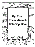 Farm Coloring Book Cover Black And White 1
