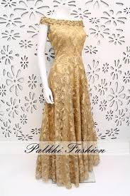 PalkhiFashion Exclusive Full Flair Gold Gown With Elegant Top Work