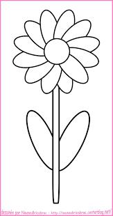 Fleur Coloriage Simple Fleurs Coloriage Printemps Coloriage
