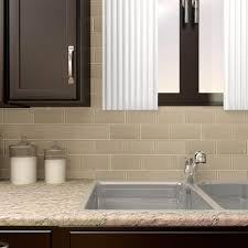 Home Depot Merola Penny Tile by Merola Tile Tessera Subway Sandstone 6 In X 3 In X 8 Mm Glass