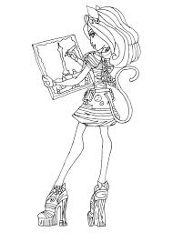 Monster High Coloring Pages 13 Wishes Wisp Images Pictures All Characters Baby Online Full Size