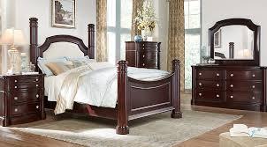 Dumont Cherry 5 Pc King Low Poster Bedroom Bedroom Sets Dark Wood