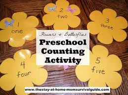 A Fun Spring Preschool Activity For Learning To Count Flowers And Butterflies Counting