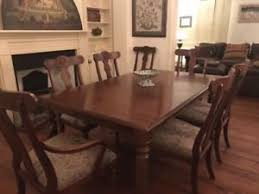 ethan allen british classics dining room table and 8 chairs ebay