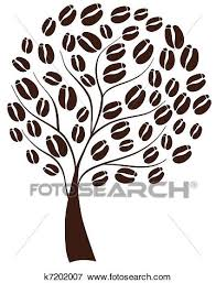 Vector Illustration Of A Coffee Tree