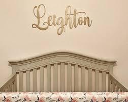 Nursery Wall Art Decor Name Sign Metal