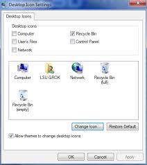 Lsu Online Help Desk by Windows 7 How To Change Or Restore Default Desktop Items Grok