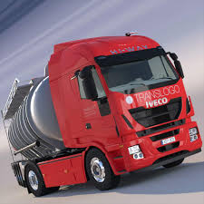 100 Iveco Truck IVECO HiWay With ADR Tanker 3D Model