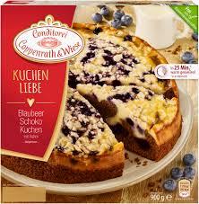 kuchenliebe blaubeer schoko kuchen mit rahm 900 grams