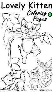 Kitten Coloring Pages Printable Free Top Online Adult Christmas