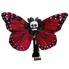 Kahlovera Skull Butterfly Hair Clips By Hairy Scary
