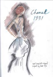 A Second Sketch Depicts Sassy Chanel Separates The Vintage Pleated Skirt Is Right On Trend For This Spring