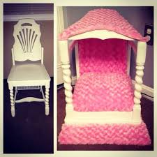 Pampered Pets Bed And Biscuit by Diy Canopy Dog Bed Made From An Old Chair Cute Projects