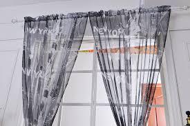 gardinenschals mus new york transparent gardine vorhang