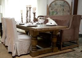 Dining Chair Using White Walmart Slipcovers With Pretty Table And Candle Holder For Room Decoration