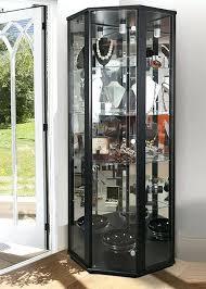 contemporary corner glass cabinet corner glass display cabinet