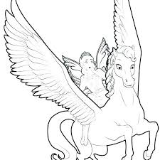 Pegasus Coloring Pages Unicorn Colouring Wings S