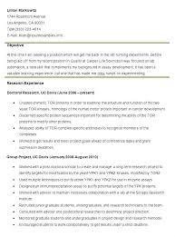 Uc Davis Resume Examples 654