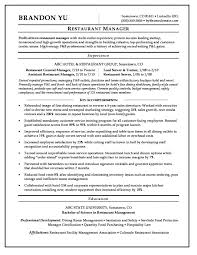 Food Service Manager Resume Restaurant Stirring District Operations School Sample 728