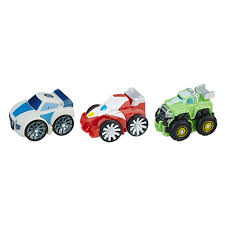 Playskool Heroes Transformers Rescue Bots Flip Racers Griffin Rock ...