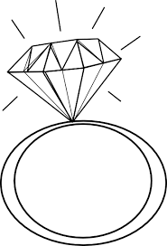 Black And White Engagement Clipart