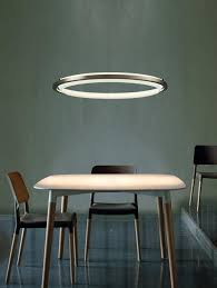 Circular LED Suspension Light Over Kitchen Table