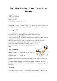 Dialysis Patient Care Technician Cover Letter Resume Sample For Rh Platforme Co Clip Art Manager