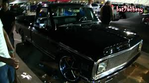ALL BLACK 72 Chevy C-10 Short Bed Truck On 22