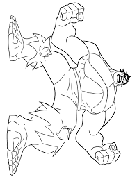 Strong Incredible Hulk Coloring Page