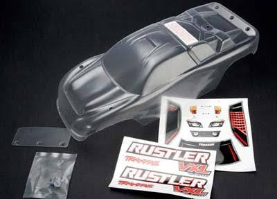 Traxxas Rustler Clear Body with Decals Wing and Hardware