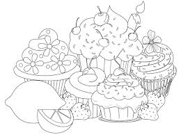 Beautiful Sweet Cupcake Coloring Pages In Pretty