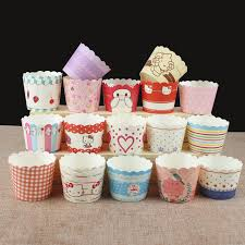 50pcs Creative Cupcake High Temperature Baking Packaging Paper Cup Cake Cups Disposable Tray Decorating