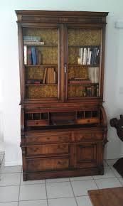 Hamlyn Drop Front Desk by Furniture Brown Secretary Desk With Hutch On Lowes Tile Flooring