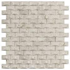 Jeffrey Court Mosaic Tile by Jeffrey Court Cotton Bales 11 125 In X 11 875 In X 8 Mm Beige