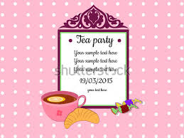 Baby Shower Cards Samples by Tea Party Invitation Template 40 Free Psd Eps Indesign Format