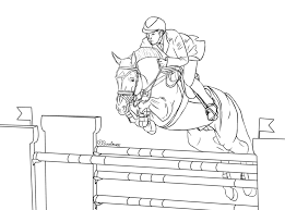 Free Show Jumping Lineart By Silviasdesires D5mcdl0 In Horse Coloring Pages