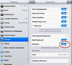 How to activate and use Voice Dictation via the Kinderloop