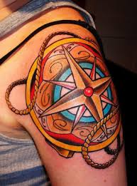 Thicker Line Work Would Probably Make This Compass Nautical Star TattoosOcean