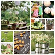 Picnic Theme Wedding Idea Lime Engraved With Names Flowers In