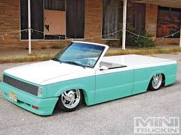 Custom Mini Trucks Ridin Around 1987 Mazda B2200 | SKULLY,s.