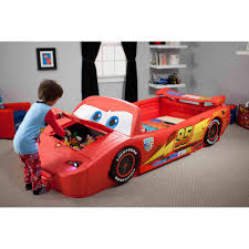 Delta Children Cars Lightning McQueen Toddler-to-Twin Bed With ... Bedroom Awesome Toys R Us Toddler Bed Amazon Delta Fire Truck Beds For Boys Nursery Ideas Best Choices Step2 Corvette Convertible To Twin With Lights Red Gigelid Sewa Mainan Anak Rideon Mobil Little Tikes Cozy Coupe Cars Stickers For Toddler Bed Mygreenatl Bunk Cool Decor Theme Kids Kidkraft Firefighter Car Reviews Wayfair Firetruck Loft Bedbirthday Present Youtube
