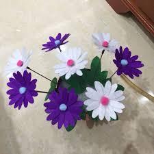2Pcs DIY Sewing Handmade Flower Pot Kids Handwork Craft Flowers Home Decoration Toys Early Educational Random Color