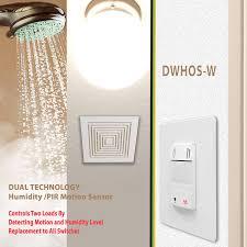 Humidity Sensing Bathroom Fan by Enerlites Dwhos W Dual Technology Humidity Plus Pir Motion Sensor