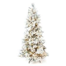 Flocked Artificial Christmas Tree Clearance Vickerman Pre Lit 75 Slim Utica