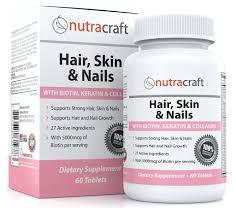 Hair Skin Nails With Biotin Keratin Collagen