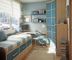 Kids Bedroom Small Space Saving Idea Cool Soft Blue Teens Room Design Ideas With Wooden Furniture Interior Designing For