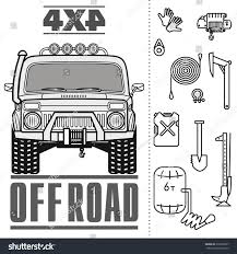 Off Road 4 X 4 Car Truck Equipment Stock Vector (Royalty Free ... Tow Truck Equipment Towing Supplies Phoenix Arizona Caspers Brochure Kurtz For Sale Work Racks Boxes Storage Learning Cstruction Vehicles Kids Sierra Body Inc Providing Truck Equipment In Prairie Home Services Offered By Intercon Md Pa Service Centers Tv Production Unit Outside Broadcast On Location Television Film Zoresco The People We Do It All Products