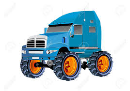 100 Big Monster Truck Vector Illustration Of With Wheels 3d Vector
